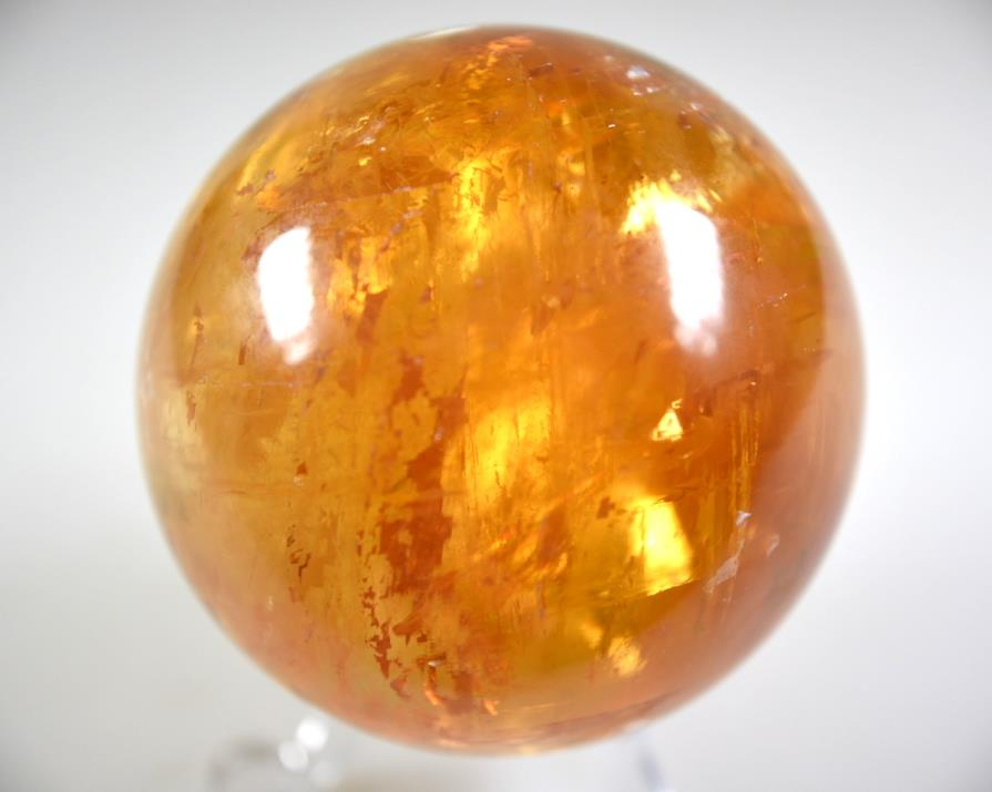 Optical Honey Calcite Sphere