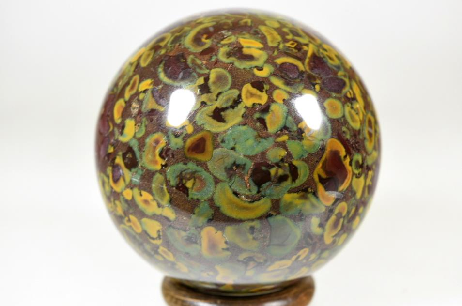fruit jasper sphere