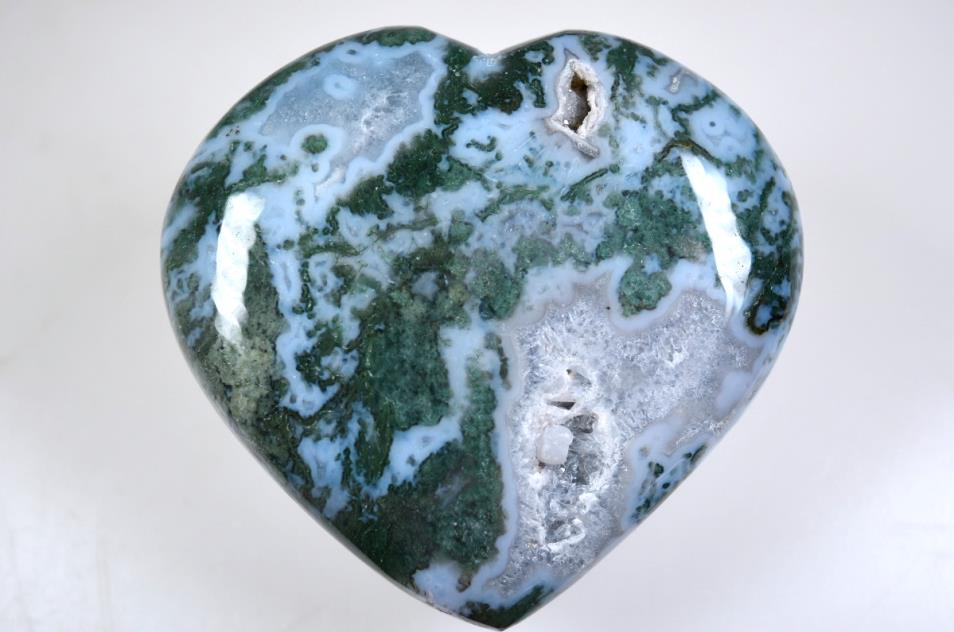 Moss Agate Hearts For Sale