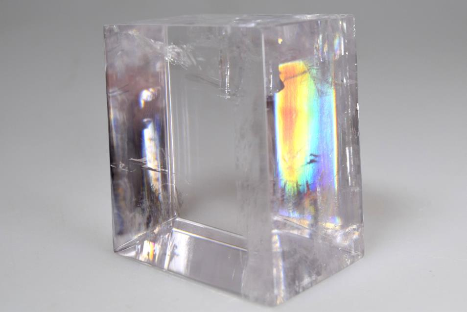 optical calcite with rainbow