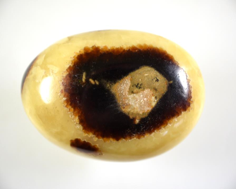 Yellow Septarian Pebble 6.5cm | Image 1