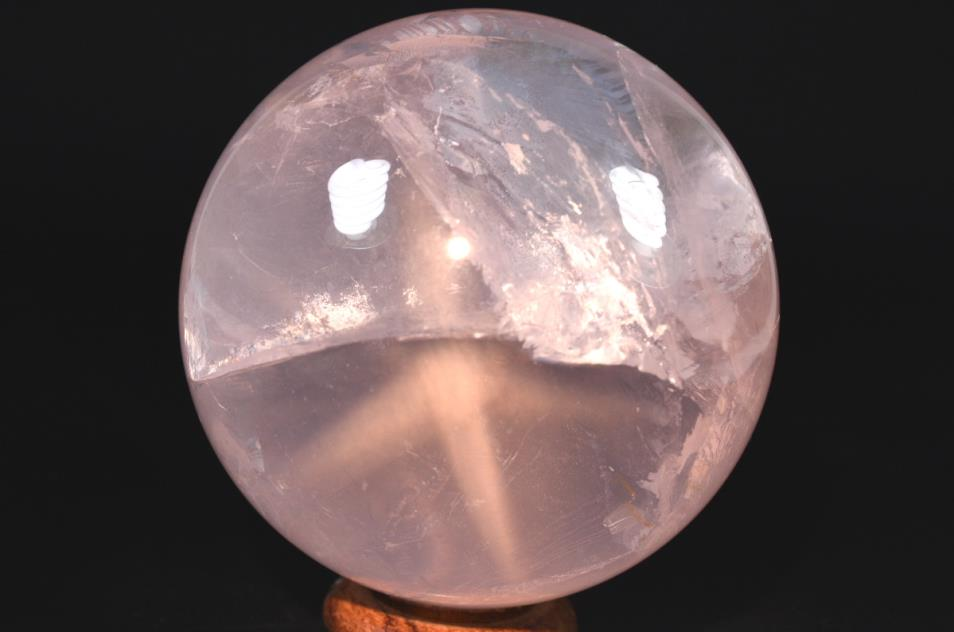 Star Rose Quartz Sphere 8.1cm | Image 1