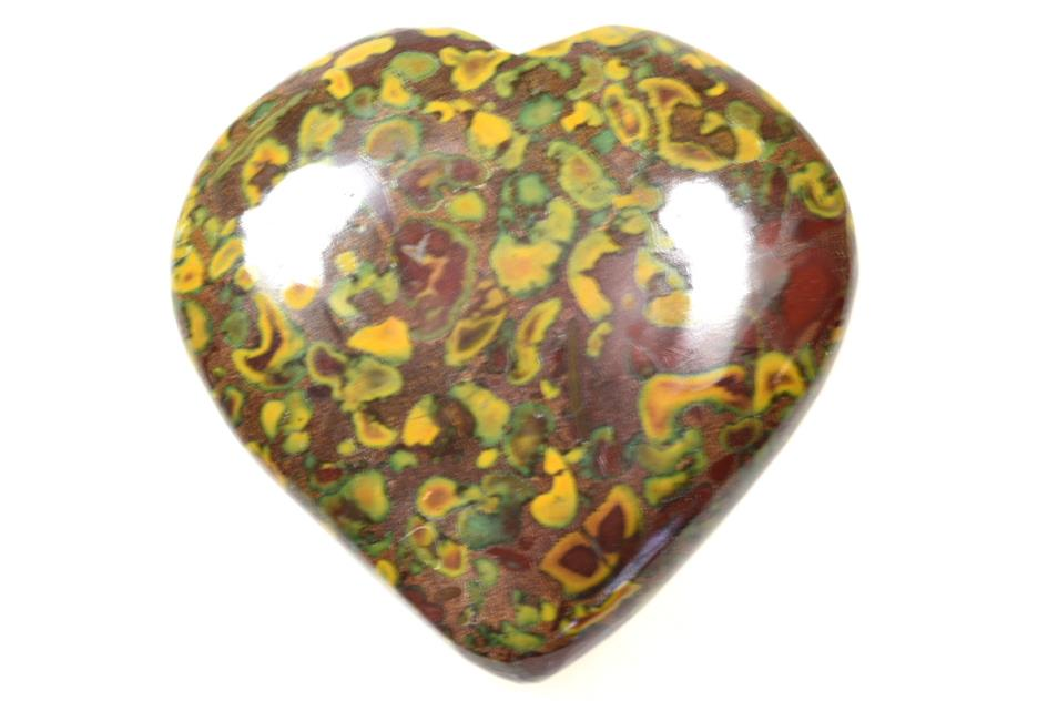 Fruit Jasper Heart 6.8cm | Image 1