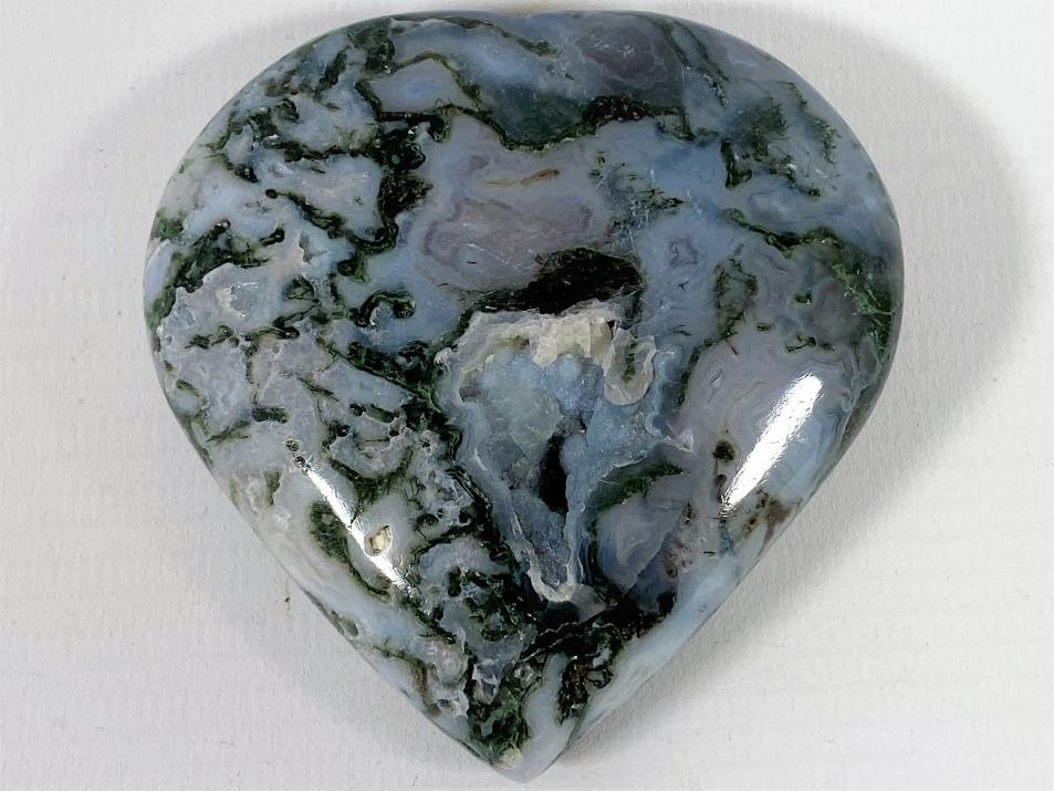 Moss Agate Heart 6.9cm | Image 1
