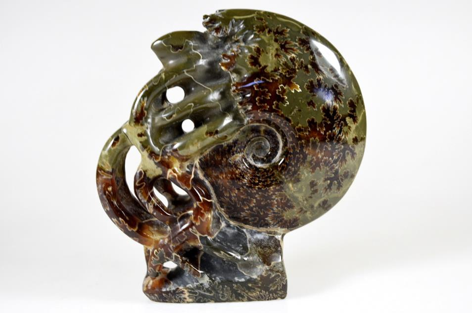 Ammonite Carving 13.2cm | Image 1