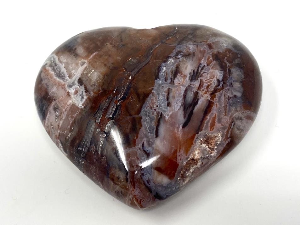 Fossil Wood Heart 6.6cm | Image 1
