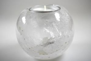 Clear Quartz Candle Holder 9cm | Image 2