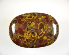 Fruit Jasper Flat Pebble 6.5cm | Image 2