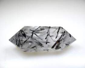 Double Terminated Quartz Point with Tourmaline 6.8cm | Image 2