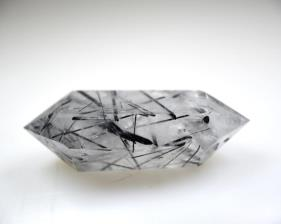 Double Terminated Quartz Point with Tourmaline 6.8cm | Image 4