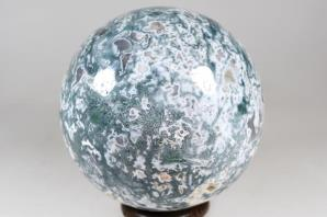 Druzy Moss Agate Sphere 9.8cm | Image 3