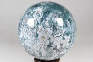 Druzy Moss Agate Sphere 9.8cm | Image 4