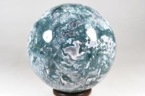 Druzy Moss Agate Sphere 9.8cm | Image 5