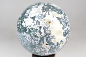 Druzy Moss Agate Sphere 9.8cm | Image 6