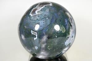 Druzy Moss Agate Sphere 12.5cm | Image 4