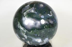 Druzy Moss Agate Sphere 12.5cm | Image 6