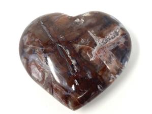 Fossil Wood Heart 6.6cm | Image 2