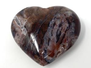 Fossil Wood Heart 6.6cm | Image 3